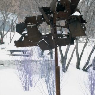 Sculpture Don Darby, Îlot Fleurie Circa 1991-1996 Louis Fortier, Collection personnelle.