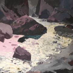 Rivière Saint-Adolphe - 1984 Acrylique sur toile 120cm X 117cm Louis Fortier PRIX : 1 900$