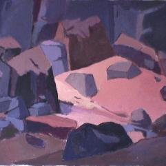 Rivière Saint-Adolphe - 1984 Acrylique sur toile 76cm X 102cm Louis Fortier PRIX : 1050$