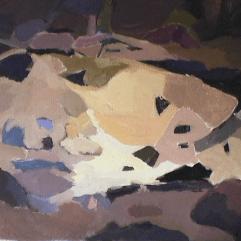 Montagne - 1984 Acrylique sur toile 61cm X 77cm Louis Fortier PRIX : 600$