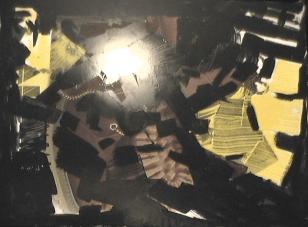Caverne - 1997 Médiums mixtes 50cm X 69cm Louis Fortier