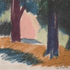 Forêt - 1979 Pastel sur carton 32cm X 28cm Louis Fortier PRIX : 75$