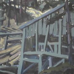 Vieux moulin - 1979 Gouache sur carton 29cm X 45cm Louis Fortier PRIX : 175$
