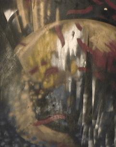 Naissance - 1987-1990 Aérosol sur masonite 92cm X 122cm Louis Fortier