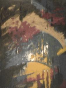 Les 3 âmes - 1987-1990 Aérosol sur masonite 92cm X 122cm Louis Fortier