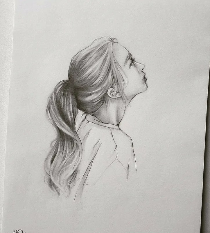 hair drawing for beginners