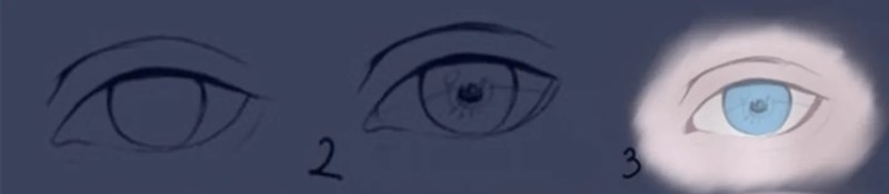 How to draw semi-realistic eyes 1