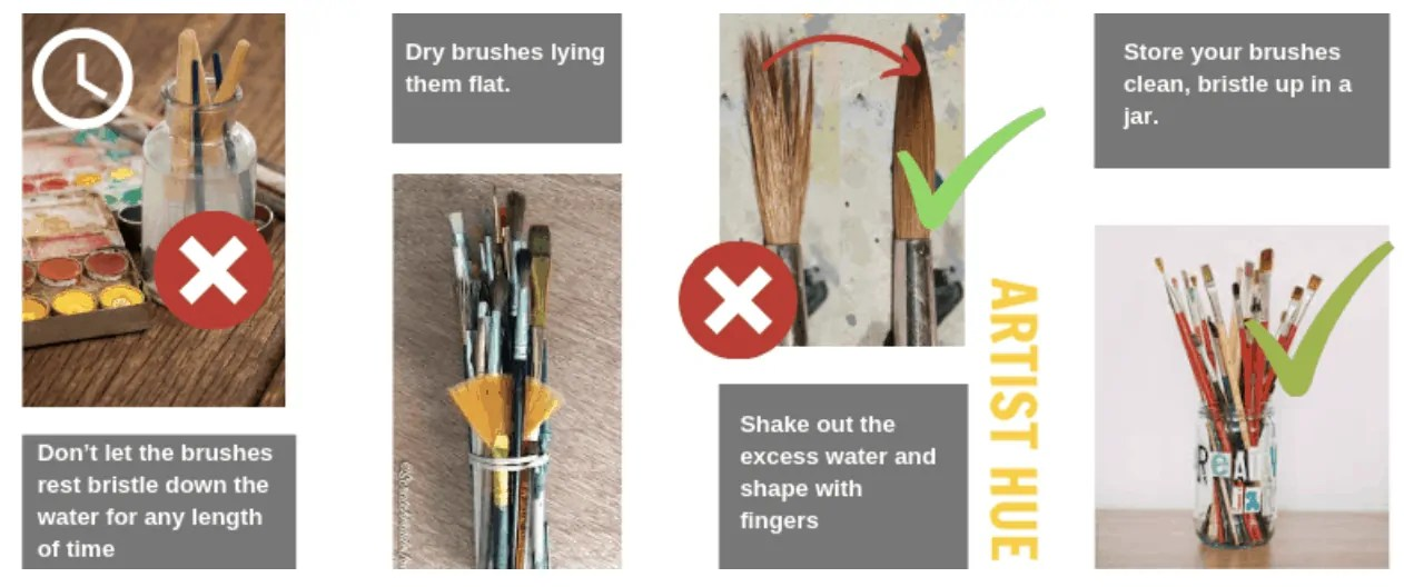 How to care for brushes