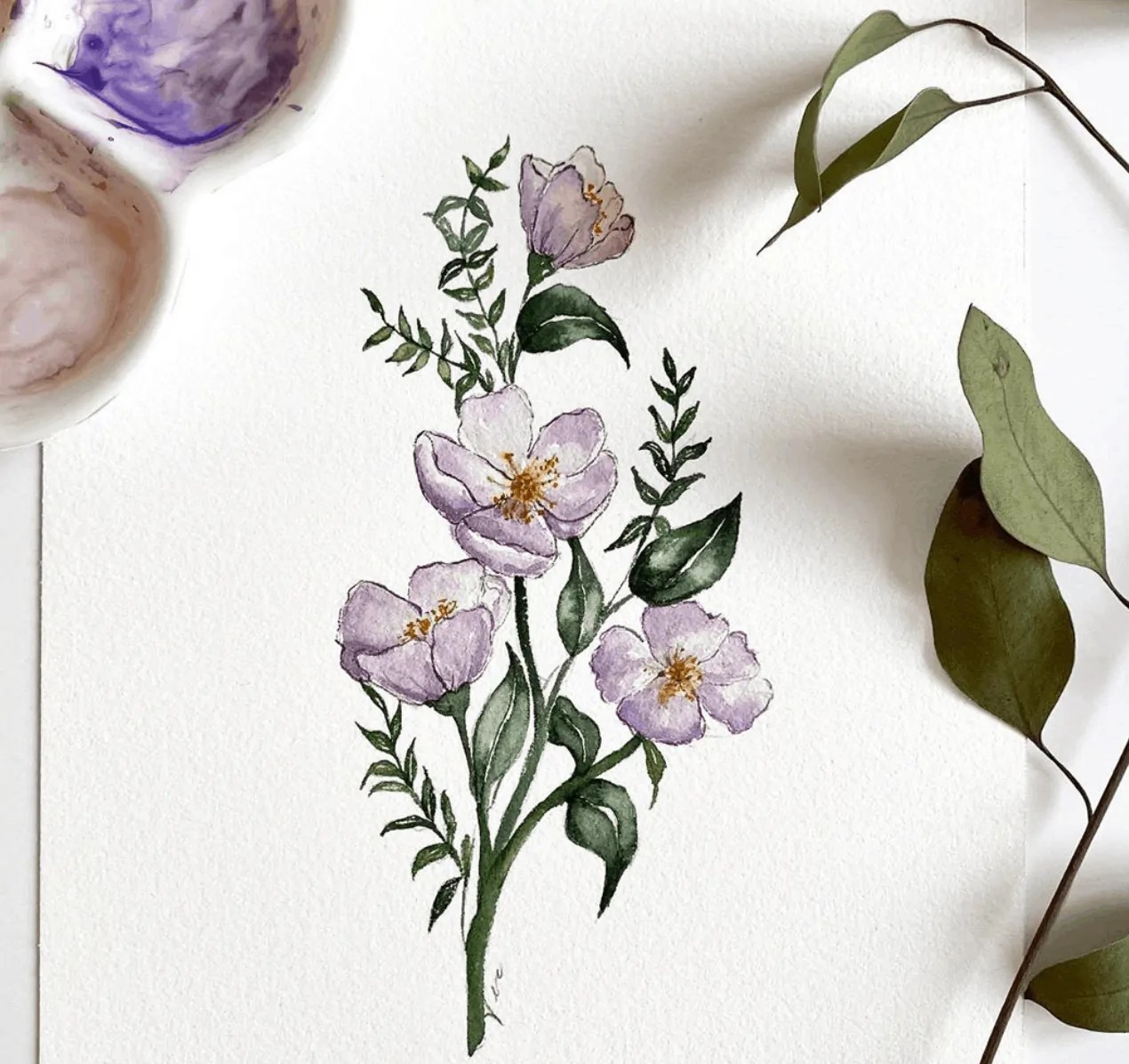 watercolor flower painting ideas