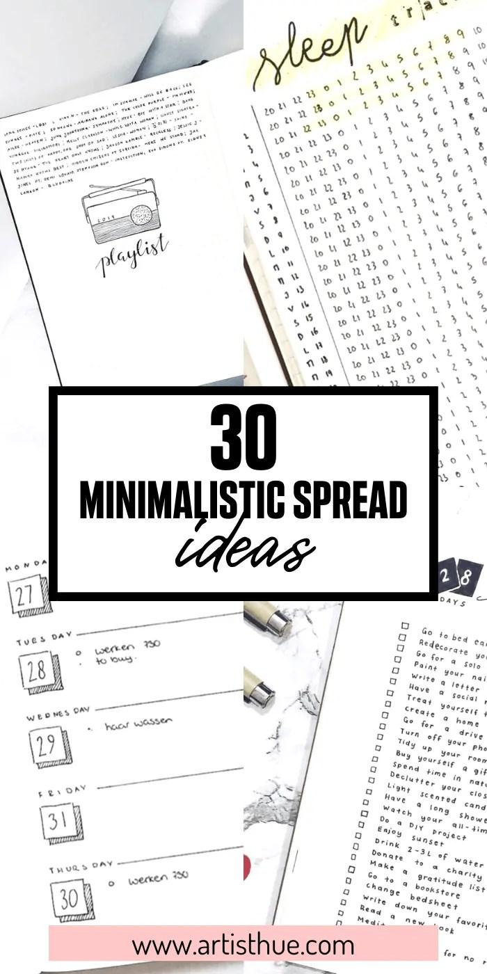 30 Minimalistic Spread Ideas