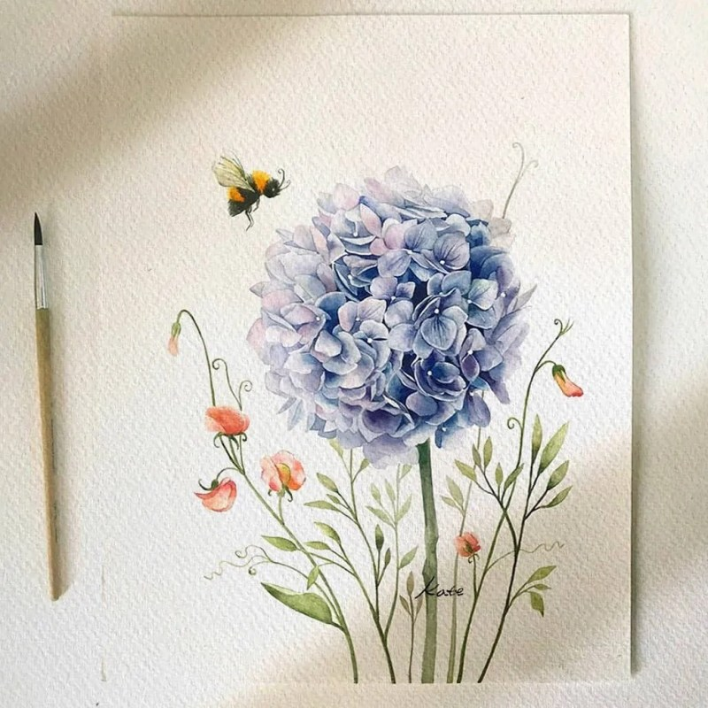 How to draw flowers for beginners? 69