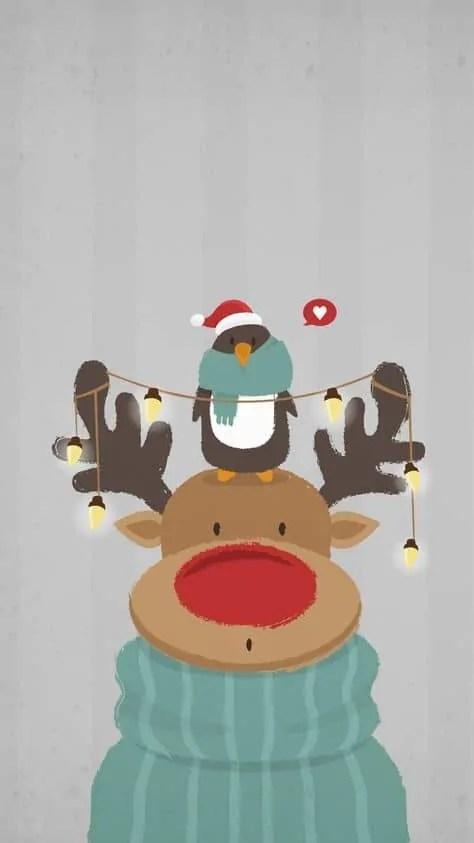 Super wall paper christmas reindeer ideas 5