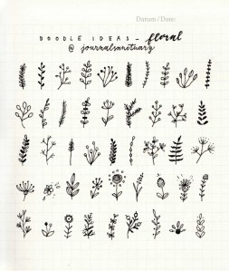 flowers bullet journal