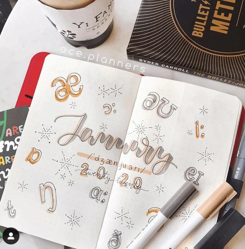 January bullet journal