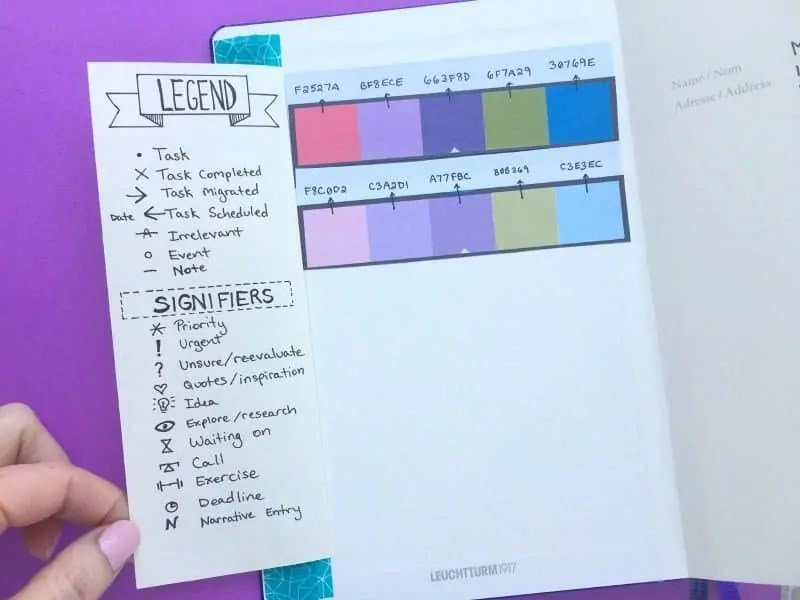 Bullet Journal Key: How to set it up + Ideas 14