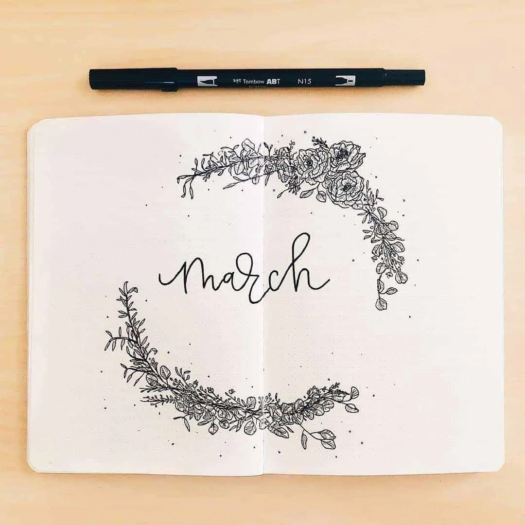 March Bullet Journal Monthly Ideas 29