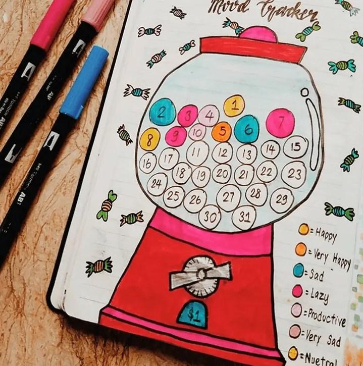Bullet Journal Mood Tracker Ideas 29