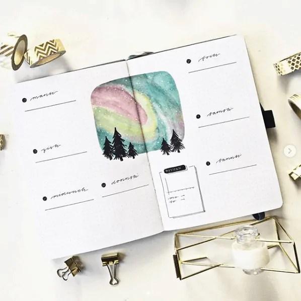 Bullet Journal Headers Ideas for beginners 31