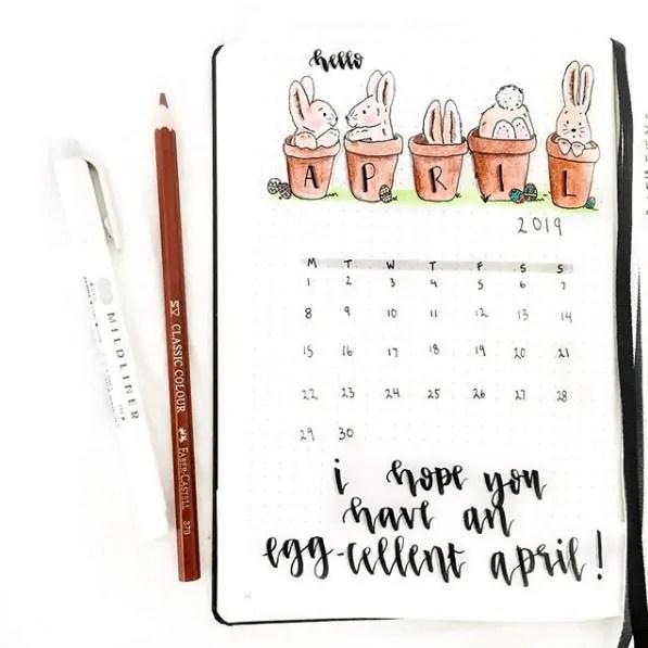 15 Easter Theme Ideas for Bullet Journal 41