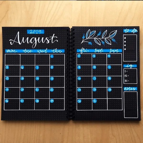 30 Creative Bullet Journal Monthly Spread Ideas 39