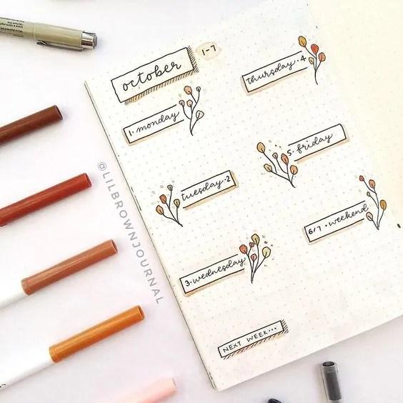 50+ Bullet Journal Weekly Spread Ideas 24