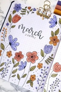 March Monthly Cover for Bullet Journal