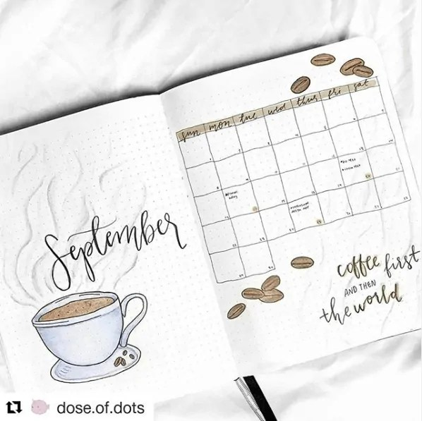 30 Creative Bullet Journal Monthly Spread Ideas 27