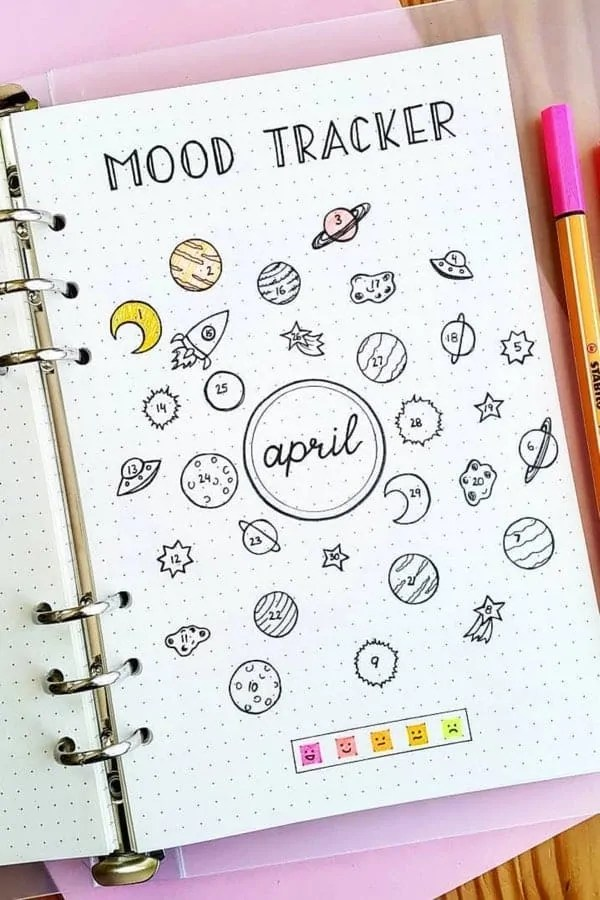 Bullet Journal Mood Tracker Ideas 12