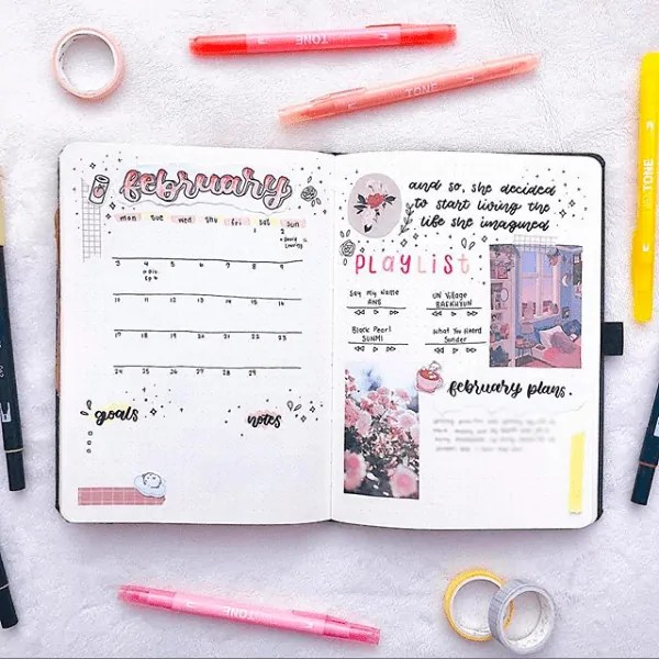 30 Creative Bullet Journal Monthly Spread Ideas 25
