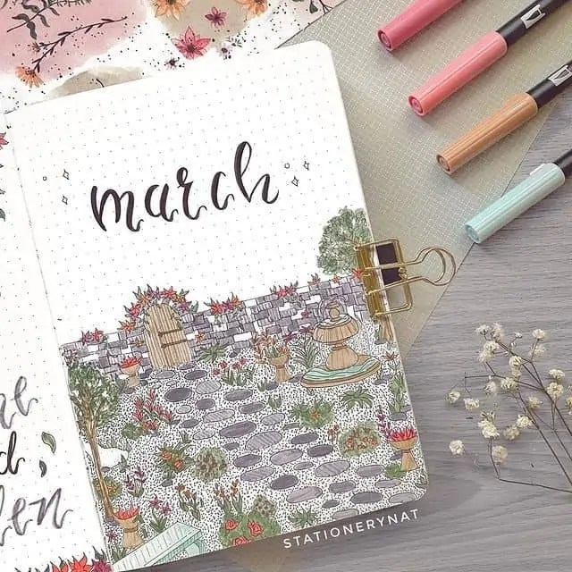 March Bullet Journal Monthly Ideas 58
