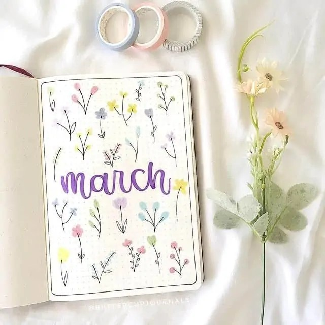March Bullet Journal Monthly Ideas 42