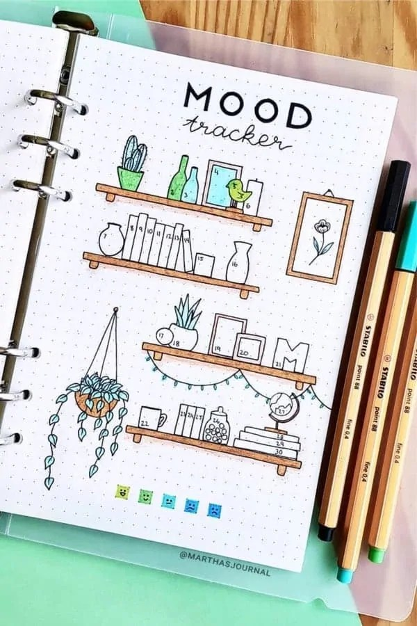 Bullet Journal Mood Tracker Ideas 8
