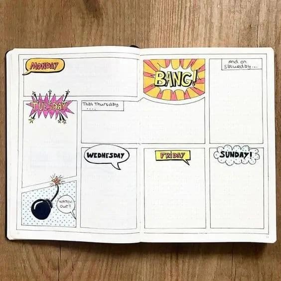 50+ Bullet Journal Weekly Spread Ideas 56