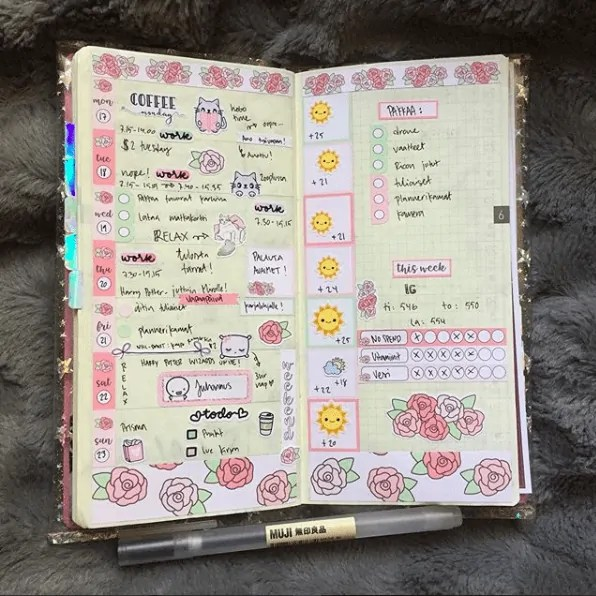 40 Creative Bullet Journal Washi Tape Ideas 31