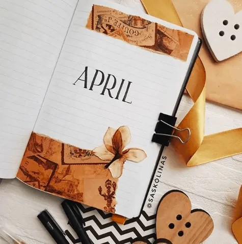 April Bullet Journal: 15 Layout Ideas 34