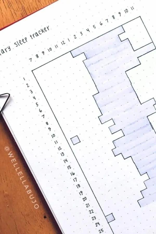 15 Bullet Journal Sleep Tracker Ideas 27