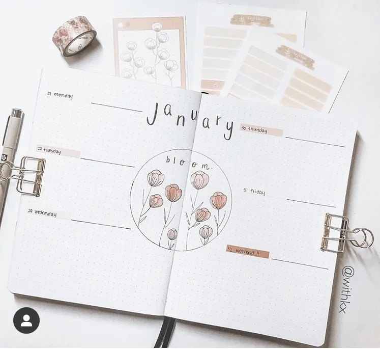 50+ Bullet Journal Weekly Spread Ideas 4