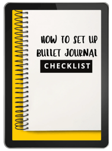 how to set up a bullet journal checklist