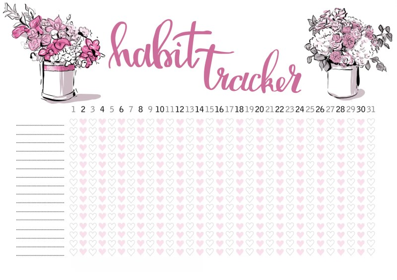 Free Printable habit tracker 2
