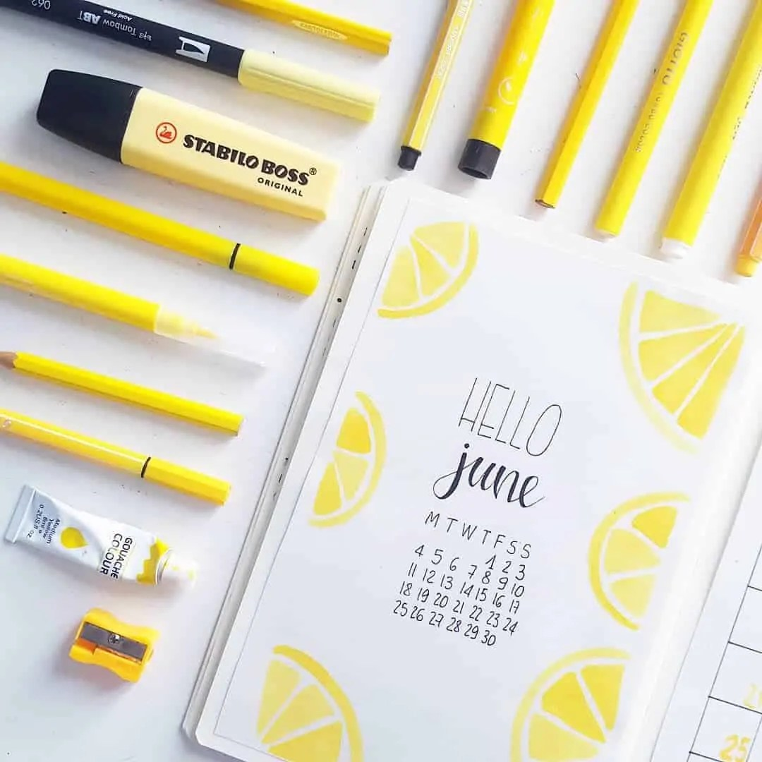 Bullet Journal June: Ideas and Inspiration 70