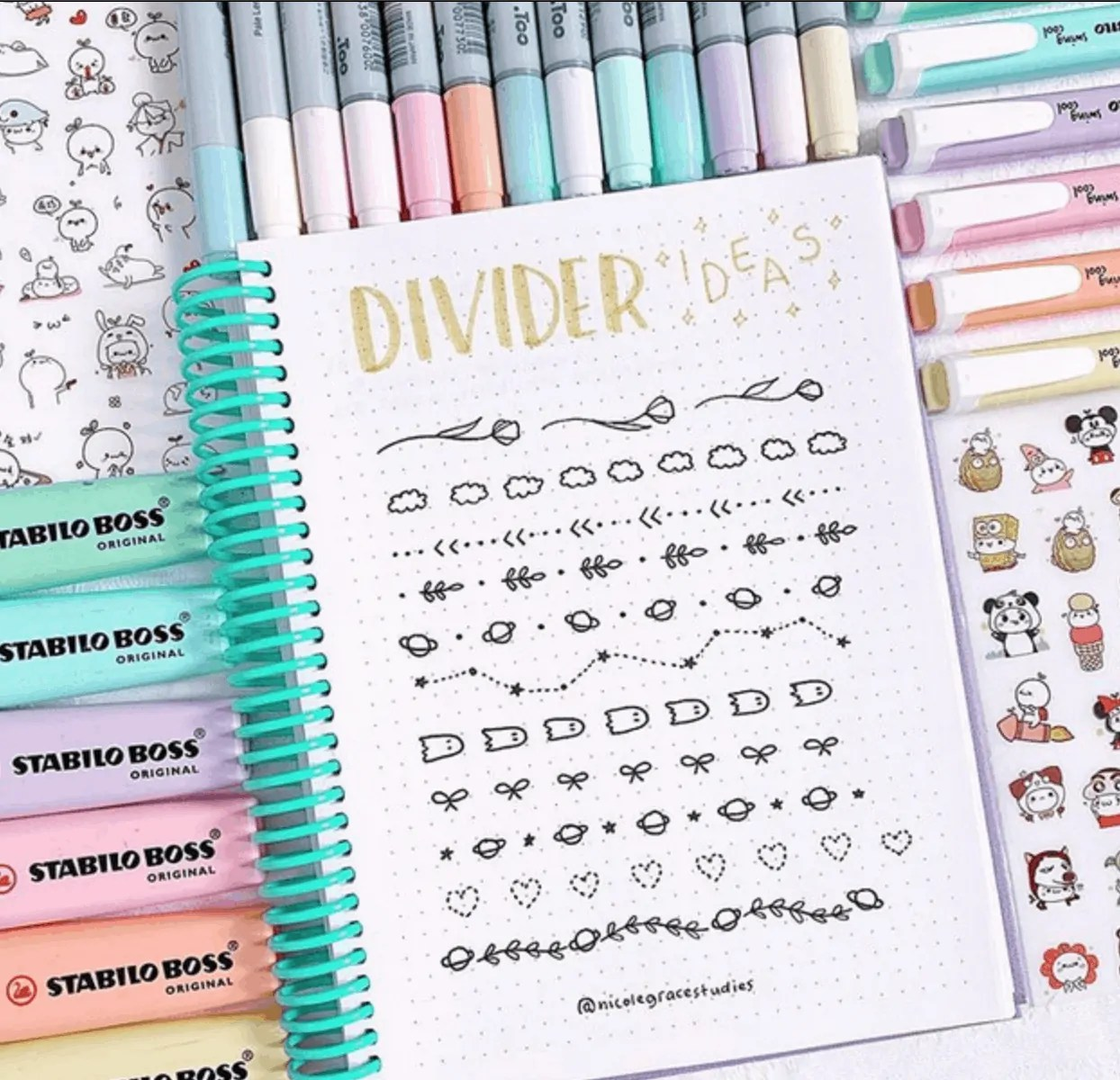 Bullet Journal Divider Ideas