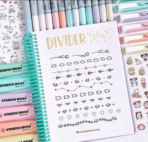 Bullet Journal Divider Ideas
