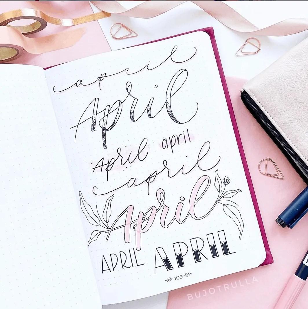 April bujo ideas header