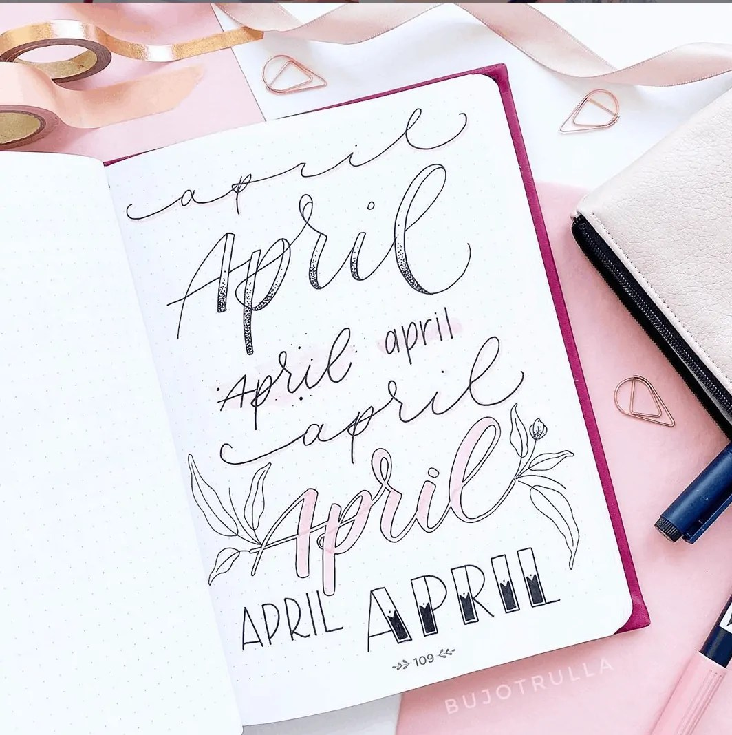April bujo ideas header