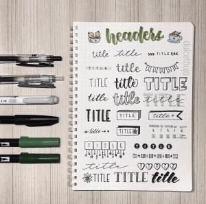 header title ideas
