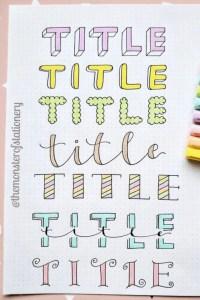 title header ideas