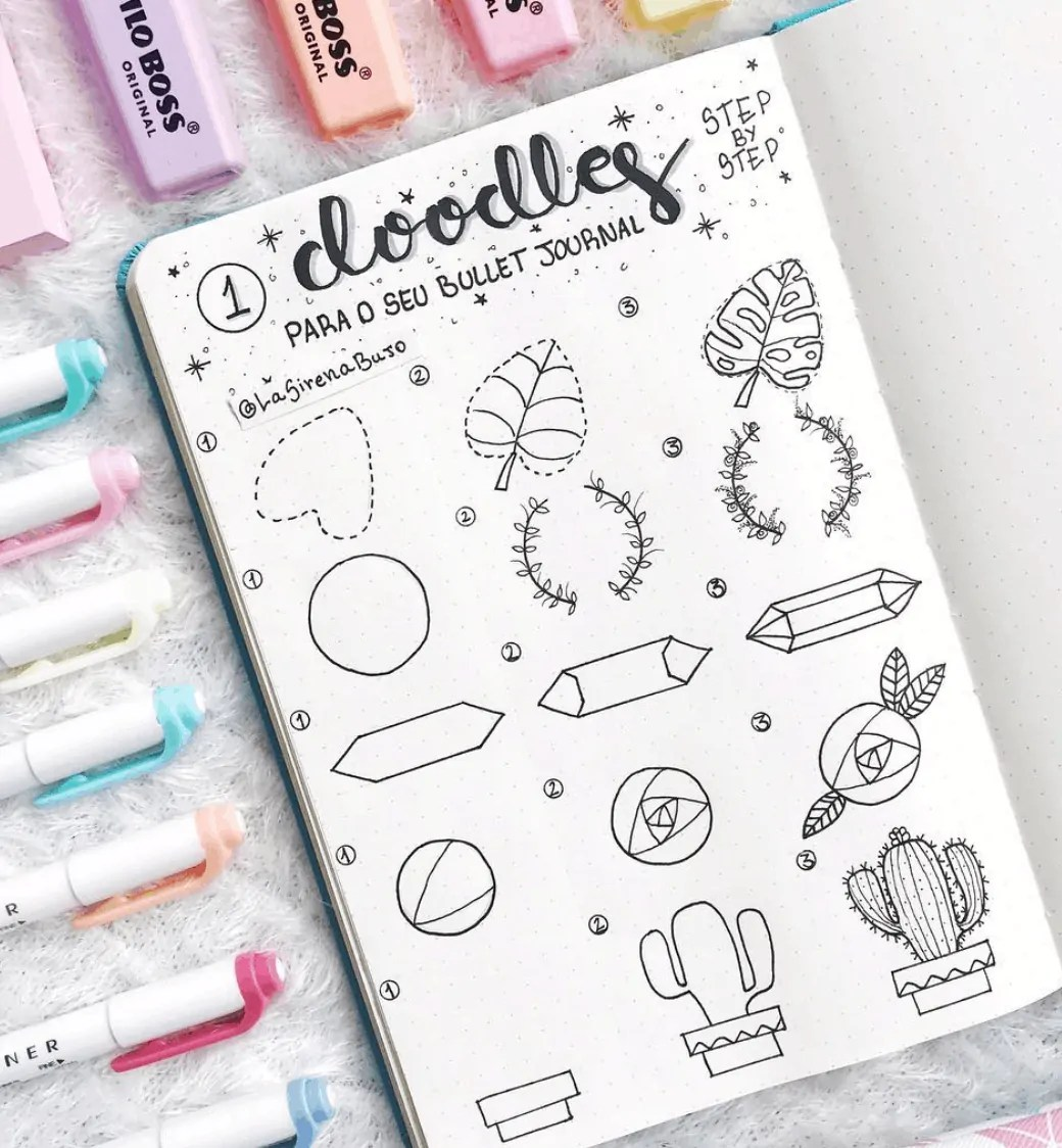 Cactus and Succulent Doodle Ideas for Bullet Journal 18