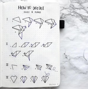 how to doodle paper planes