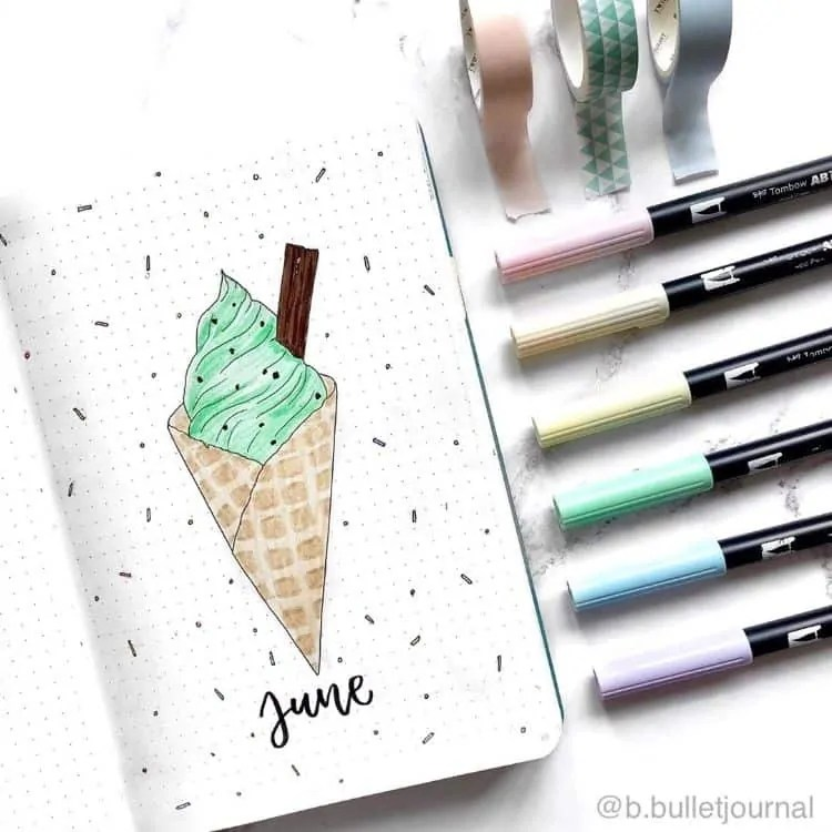 Bullet Journal June: Ideas and Inspiration 42