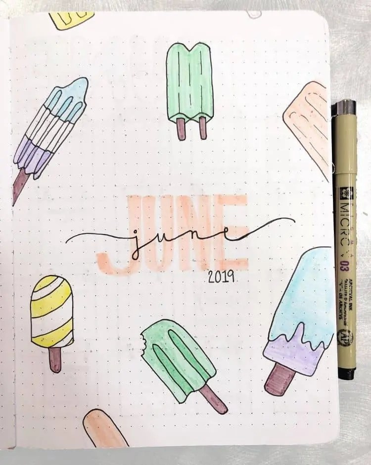 Bullet Journal June: Ideas and Inspiration 38